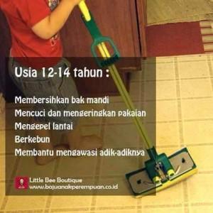 Pekerjaan Rumah Tangga untuk Anak Usia 12-14 Tahun