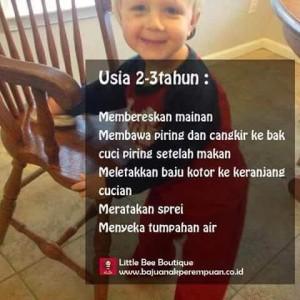 Pekerjaan Rumah Tangga untuk Anak Usia 2-3 Tahun