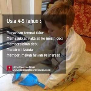 Pekerjaan Rumah Tangga untuk Anak Usia 4-5 Tahun