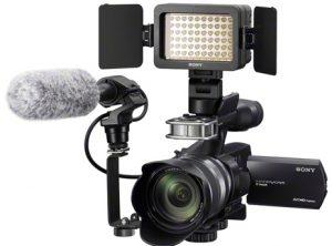 contoh lampu yang dipasang di atas kamera