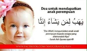 doa minta anak perempuan