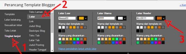 edit background di perancang template blog