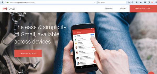 halaman depan gmail