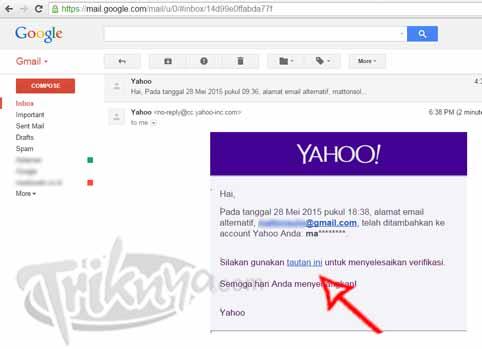 konfirmasi di email gmail