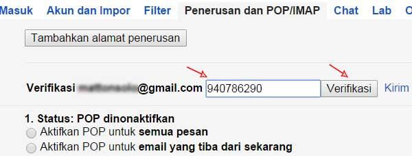 konfirmasi penerusan email