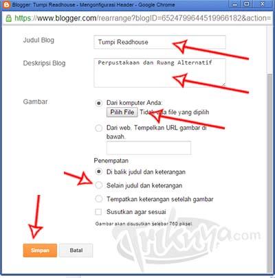 memasang logo di blog