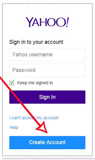 membuat akun baru email yahoo