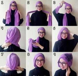 cara memakai hijab pashmina dengan mudah dan sederhana