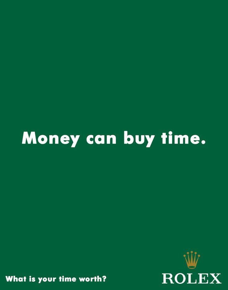 Iklan jam tangan rolex, Produk ini tak pernah mau diberi harga murah