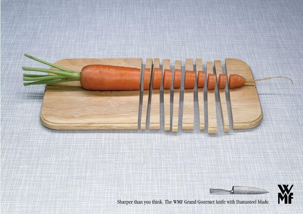 Produk pisau ini melakukan positioning berdasarkan manfaat produknya