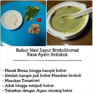 Bubur Sayur Brokoli Tomat