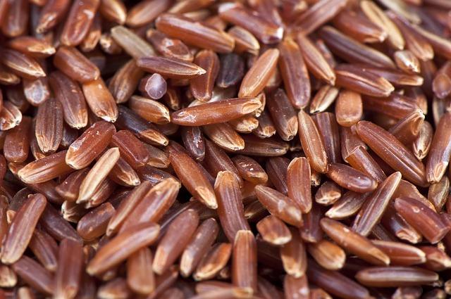 Kulit ari pada beras merah dan oat mengandung vitamin B