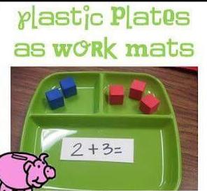 belajar matematika dengan piring