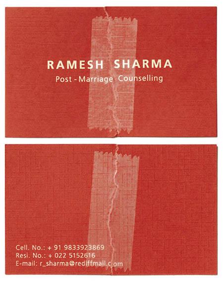 contoh desain kartu nama untuk konsultan pernikahan