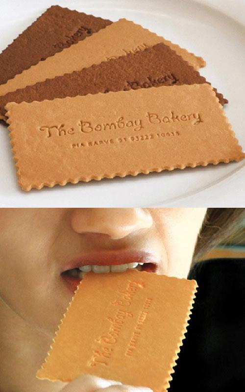 desain-kartu-nama-berbentuk-roti-warna-cokelat