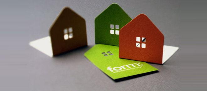 Desain kartu nama bentuk rumah