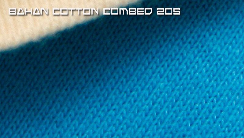 Jenis Bahan Kaos cotton combed