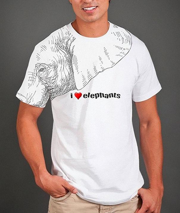 desain-kaos-bagus-gambar-gajah