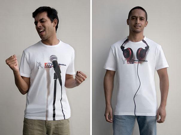 desain kaos musik gambar headset dan microphone