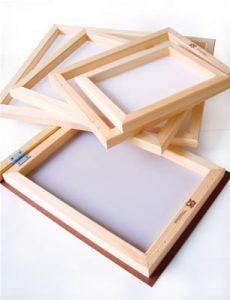 gambar screen sablon bingkai kayu