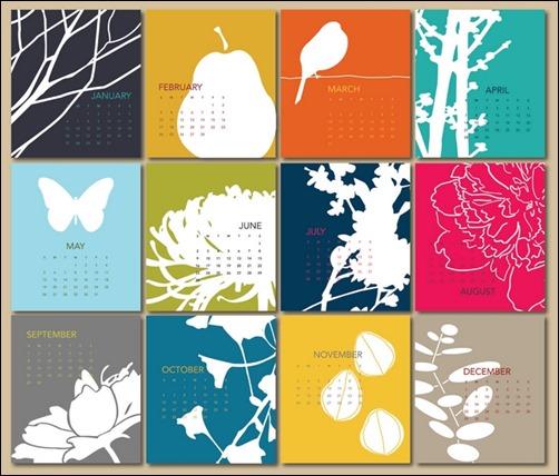 Referensi Desain Kalender Dinding Inspiratif | Tumpi.id
