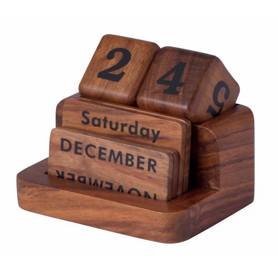 kalender meja 5 kayu