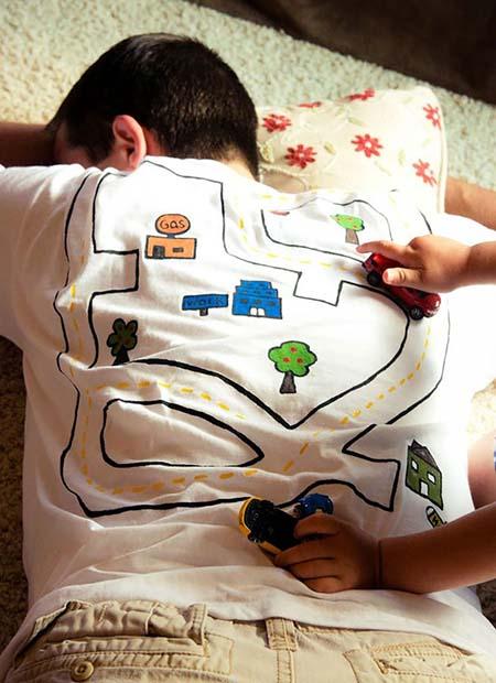 kaos kreatif dengan sablon gambar peta