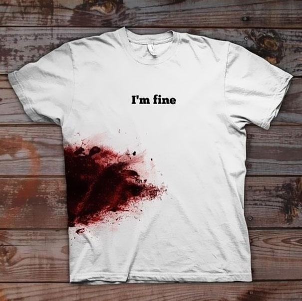 kaos-unik-Im-fine-T-Shirt