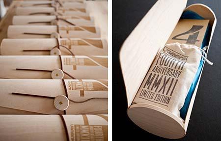 Kemasan terbuat dari kayu bentuk tabung