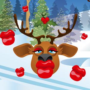 gambar rusa natal lucu