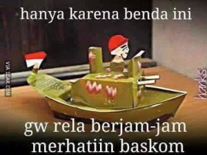 mainan kapal minyak dalam baskom