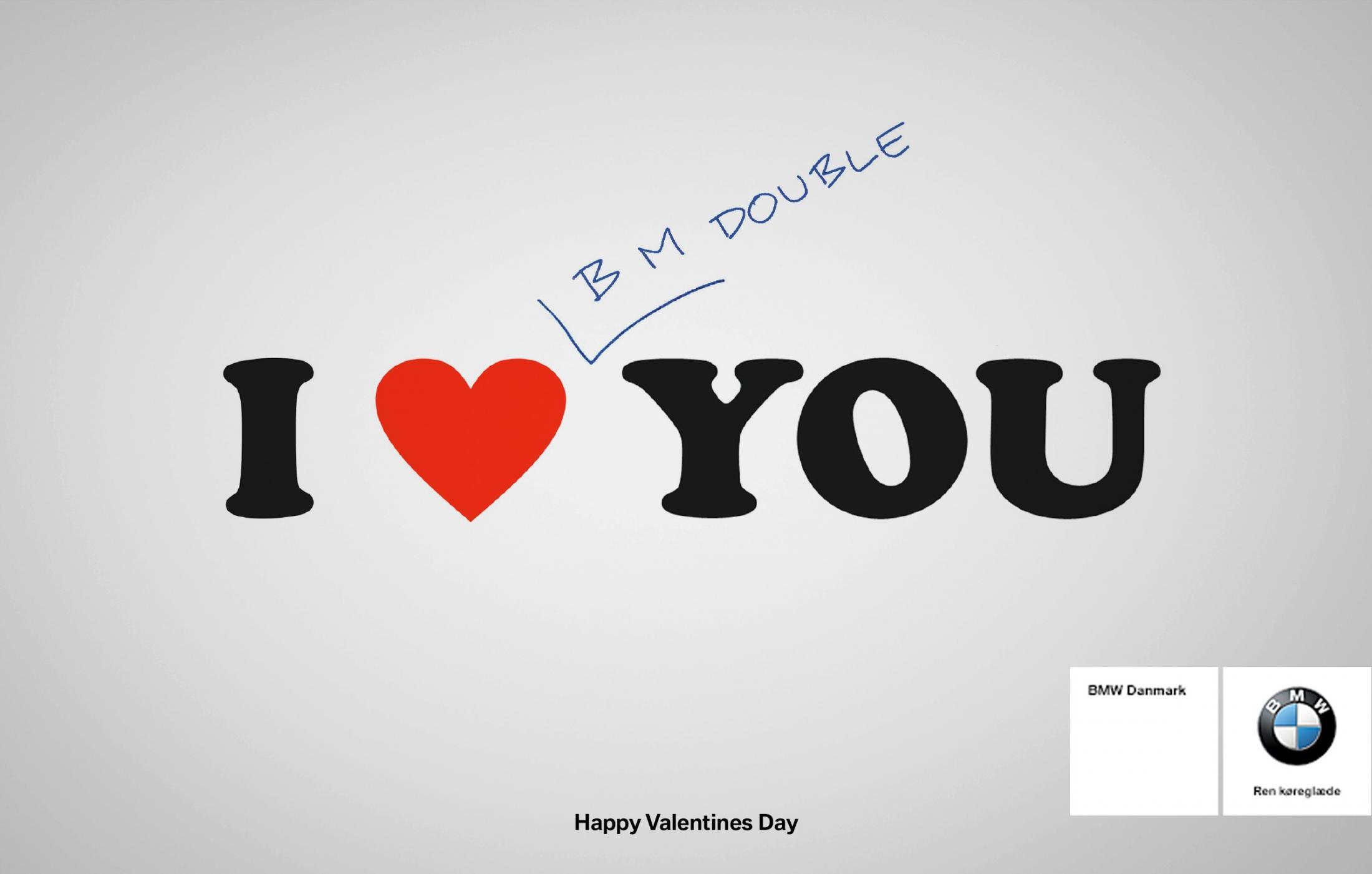 membuat iklan efektif - iklan mobil bmw saat hari valentine