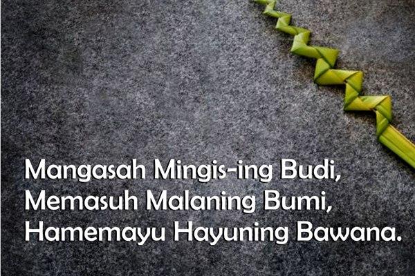 8 Kata Bijak Bahasa Jawa Dan Artinya Tumpiid