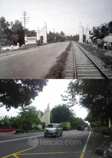 Solo Tempo Dulu Gerbang kota menuju Kartasura 1934 (Jongbloed)