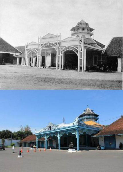 Solo Tempo Dulu - Bangsal Kamandungan Keraton Surakarta (1910)