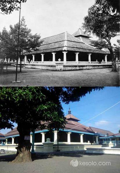 Solo Tempo Dulu - Masjid di Keraton Susuhunan Solo Surakarta 1910-1930