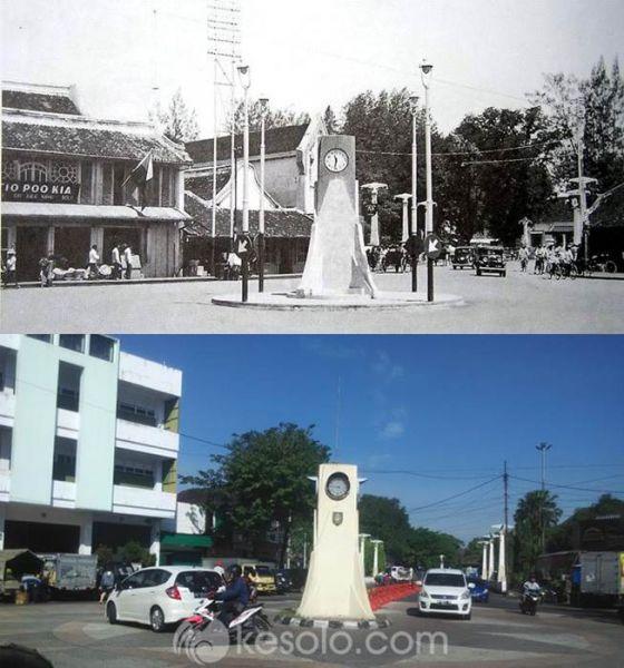 Solo Tempo Dulu - Tugu Pasar Gede menuju Balai Kota 1937