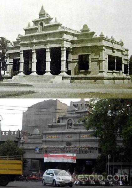 Solo Tempo Dulu - Soos MN 1920 (Anten), sekarang Monumen Pers Solo