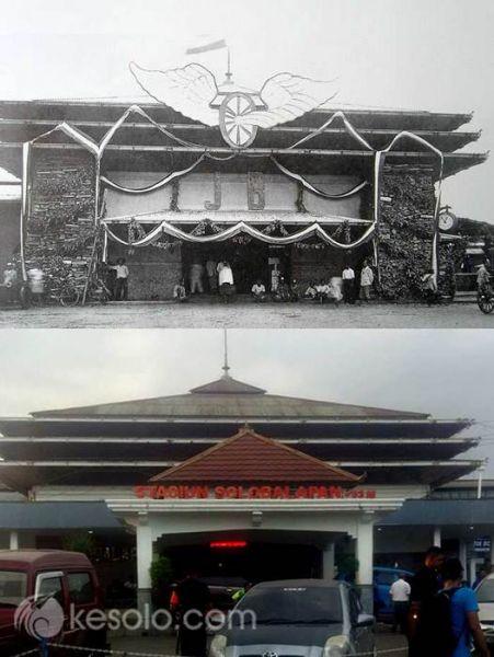Solo Tempo Dulu - Stasiun Balapan Berhard 1937 (Moltzer)