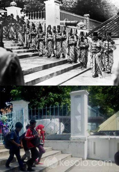 Solo Tempo Dulu - Kori Wijil Sitihinggil saat HUT PB X ke 50 - 21 January 1932