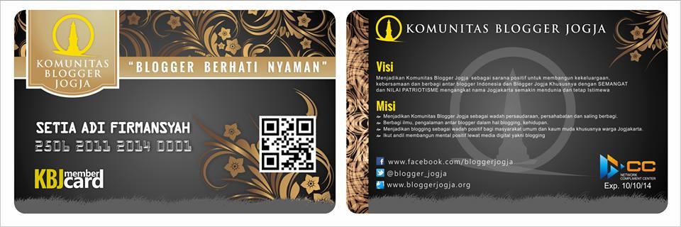 Contoh ID Card untuk komunitas blogger jogja/bloggerjogja.org