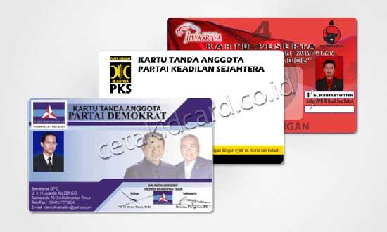 contoh ID Card untuk Kartu Tanda Anggota Partai/cetakidcard.co.id