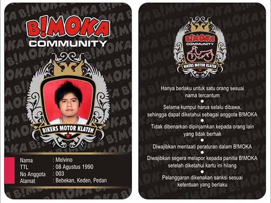 contoh ID Card untuk komunitas bikers motor/bimoka.blogspot.com