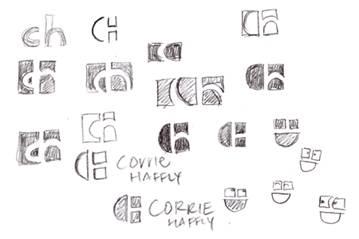 Contoh sketsa logo saat membuat logo   image: logodesignconsultant.com