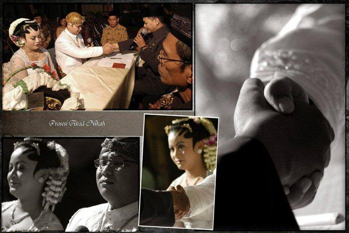 Foto prosesi akad nikah/Dedy Timbul