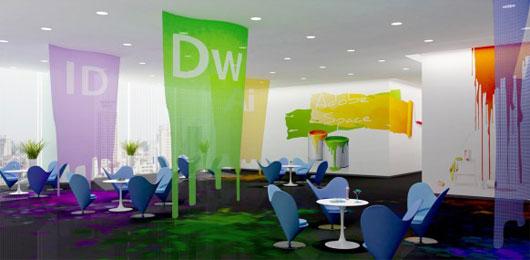 Kantor yang penuh warna tapi nyaman /rexohome.com