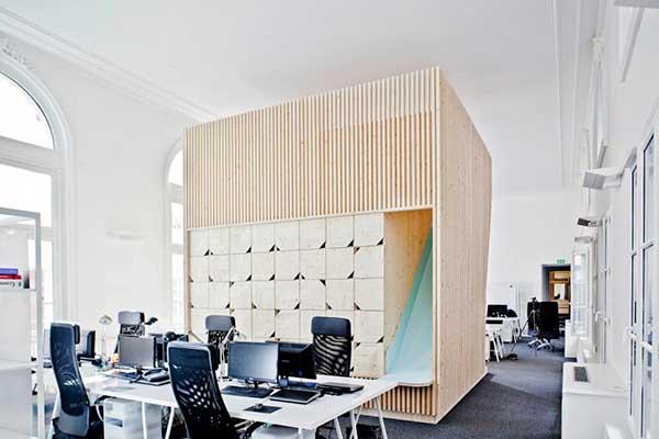 kantor unik dan keren EKIMETRICS, Designed by: Estelle Vincent Architecture/ARNAUD SCHELSTRAETE