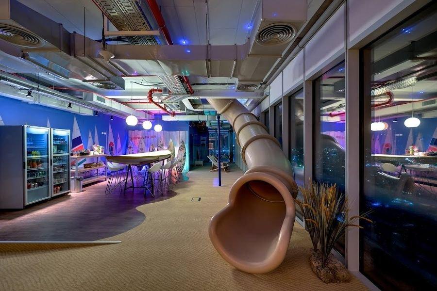 kantor unik dan keren Google, Designed by: Camenzind Evolution/PETER WURMLI