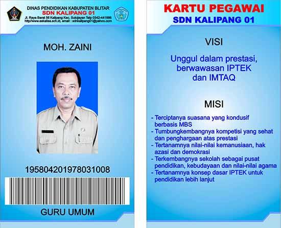 Contoh ID Card pegawai sekolah/intifadacomputer.blogspot.com