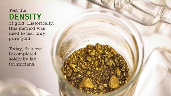 menguji densitas emas asli atau palsu